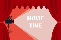 Cinema background or banner. Movie time. Movie ticket. Cinema camera. Cinema background or banner. Movie time. Movie ticket.  Cinema camera Royalty Free Stock Images