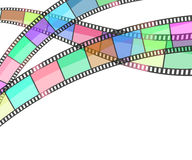 Cinema background with film strip. Vector Stock Photo
