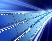 Cinema background. Films with an impressive shine Royalty Free Stock Photo