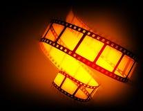Cinema background flying film reel. 3d high quality render royalty free illustration