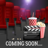 Cinema Background Illustration Stock Photos