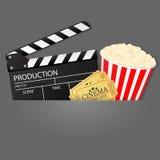 Cinema background. Vector illustration. Royalty Free Stock Photography