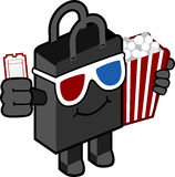 Cinema bag character Stock Photos