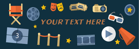 Cinema banner vector. For your ideas Royalty Free Stock Images