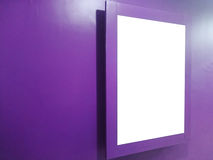 Cinema banner white screen Stock Photography
