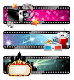 Cinema Banners Stock Photography
