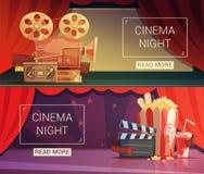 Cinema Banners Set Stock Photography