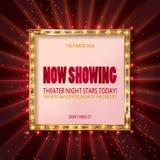 Cinema billboard now showing. Royalty Free Stock Photos
