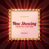 Cinema billboard now showing. Royalty Free Stock Photography