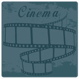 Cinema. A blue cinema's tape with some text above Stock Images