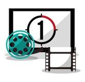 Cinema board countdown film reel Stock Image