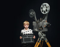 Cinema and boy Royalty Free Stock Photography