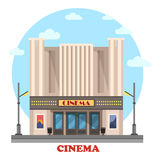 Cinema building for art movies or films Royalty Free Stock Images