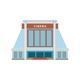 Cinema building flat style. Movie Theater. Cinema building flat style. Movie Theater icon. Game element. Vector illustration isolated on white eps10 Stock Photography