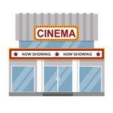 Cinema building vector. Royalty Free Stock Images