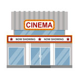 Cinema building vector illustration. Royalty Free Stock Photo