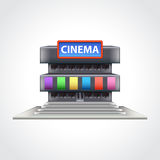 Cinema building  vector illustration Stock Photography
