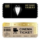Cinema, Business vip tickets isolated on white background. Coupon icon. Stock Photography
