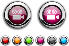 Cinema button. Stock Image