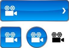 Cinema  button set. Stock Image
