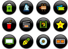 Cinema Buttons stock images