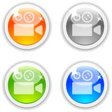 Cinema buttons. Royalty Free Stock Images