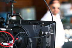 Cinema camera Stock Image