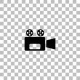 Cinema camera icon flat vector illustration