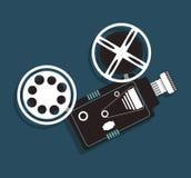 Cinema camera film projector icon Royalty Free Stock Image