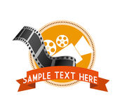 Cinema camera film strip label. Illustration eps 10 Stock Photo