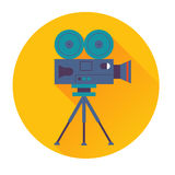 Cinema camera icon Stock Image