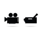 Cinema camera icon  illustration Stock Image