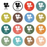 Cinema camera icons Stock Image