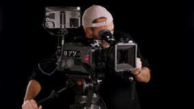 Cinema camera stock footage