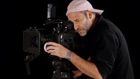 Cinema camera stock video footage