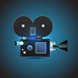 Cinema camera, vector illustration Stock Photos