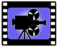 Cinema and camera working stock image