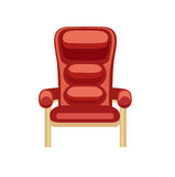 Cinema chair flat design vector on white Royalty Free Stock Image