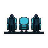 Cinema chair isolated icon Royalty Free Stock Photo