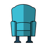 Cinema chair isolated icon Stock Images
