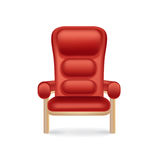Cinema chair isolated on white Royalty Free Stock Photos