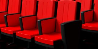 Interior Of A Cinema Perspective View Stock Illustration