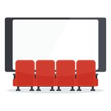 Cinema chairs front of tv Stock Photos