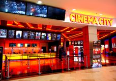 Cinema City in  Maritimo Shopping Center Auschan, Constanta,Romania Stock Images