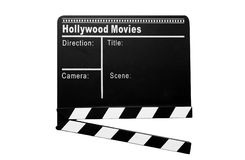 Cinema clapboard Stock Photography