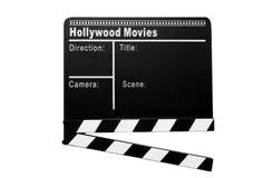 Cinema clapboard Stock Photography