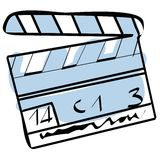 Cinema clapboard vector. A sketch of cinema clapboard + vector eps file Stock Photography