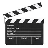 Cinema clapboard Royalty Free Stock Photography