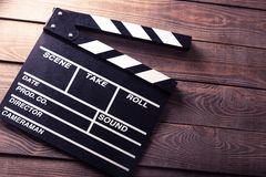 Cinema, clapboard, director Stock Photos