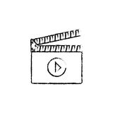 Cinema clapboard equipment. Icon  illustration graphic design Royalty Free Stock Photo